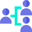 Hierarchy, group, Users, workers, stick man, Business, Employees, networking MediumSlateBlue icon
