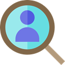 Loupe, Human resources, magnifying glass, Business, hiring, search DimGray icon