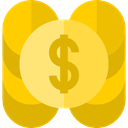 profit, Currency, Bank, Business, Money, Dollar Symbol, Coins Gold icon