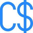 commerce, Currency, Money, canada, Business, Canadian Dollar, Bank, exchange DodgerBlue icon