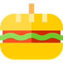 food, meat, sandwich, Bread, Fast food, junk food Gold icon