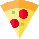Italian Food, junk food, Pizza, food, Fast food, Unhealthy, Pizzas SandyBrown icon