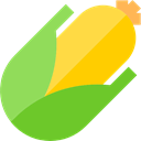 vegetarian, food, Healthy Food, Corncob, diet, organic, Cereal, vegan YellowGreen icon
