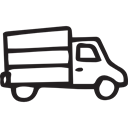 Trucks, travel, truck, Transports, transport, transportation, Logistics Delivery, Delivery, Movement, travelling Black icon