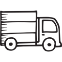 Logistics Delivery, transportation, Movement, truck, transport, travelling, Transports, Trucks, travel Black icon