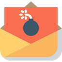 envelope, emails, mail, Message, Multimedia, interface, Spam, technology Tomato icon