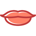 love, romantic, Body Part, kiss, Femenine, lips Black icon