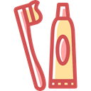 toothpaste, Hygienic, Toothbrush, Health Care IndianRed icon