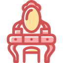 Beauty Salon, Mirror, fashion, Grooming, desk, Beauty IndianRed icon