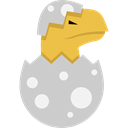 egg, prehistoric, dinosaur, reptile, Animals LightGray icon