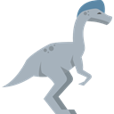 Oviraptor, Oviparous, dinosaur, Wild Life, Animals, Extinct Black icon