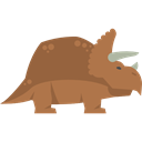 Animals, Herbivore, dinosaur, triceratops, Wild Life, Extinct Black icon