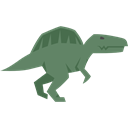 Wild Life, Animals, Extinct, Spinosaurus, Carnivore, dinosaur Black icon