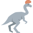 Wild Life, Herbivore, Animals, Lambeosaurus, Extinct, dinosaur Black icon