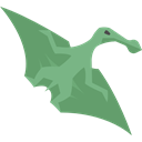 Animals, Extinct, dinosaur, Carnivore, Wild Life, Pterosaurus Black icon