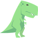 Tyrannosaurus Rex, Wild Life, Animals, Extinct, dinosaur, Carnivore LightGreen icon