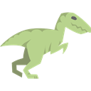 Velociraptor, Wild Life, Extinct, Animals, Carnivore, dinosaur Black icon