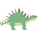 Extinct, dinosaur, Kentrosaurus, Animals, Herbivore, Wild Life Black icon
