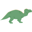 dinosaur, Wild Life, Iguanodon, Extinct, Animals, Herbivore Black icon