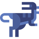 Animals, Baryonyx, dinosaur, Extinct, Wild Life, Carnivore DarkSlateBlue icon