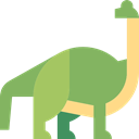 dinosaur, Wild Life, Brachiosaurus, Animals, Extinct, Herbivore DarkSeaGreen icon