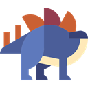 stegosaurus, Extinct, Animals, Herbivore, dinosaur, Wild Life DarkSlateBlue icon