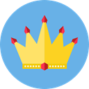 Royalty, Chess Piece, king, Queen, shapes, crown CornflowerBlue icon