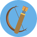 Arrows, Bow, weapons, Archery, Quiver CornflowerBlue icon