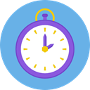 watch, time, tool, Clock, square CornflowerBlue icon