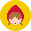 Fairy Tale, people, Fantasy, Character, legend, Folklore, Little Red Riding Hood, Avatar Gold icon
