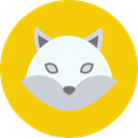 wolf, Costume, party, magician, hat, wizard, Animal Gold icon