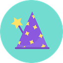 hat, party, Costume, wizard, magician SkyBlue icon