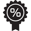 Label, commerce, percentage, sticker, sale, offer, Discount, Price, bargain Black icon