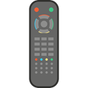 technology, Remote control, television, wireless Black icon