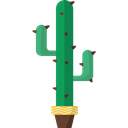 Cactus, plant, Botanical, Dessert, nature, dry Black icon