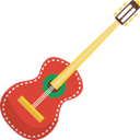 Spanish Guitar, music, Orchestra, guitar, Acoustic Guitar, String Instrument, musical instrument Black icon