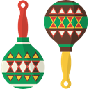 shaker, maracas, tropical, music, musical instrument Black icon