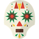 Artisanal, Mexican, Crafts, traditional, skull, Mexico, head Beige icon