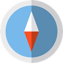 compass, Cardinal Points, location, Direction, Tools And Utensils, Orientation SkyBlue icon