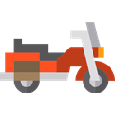 Vespa, Motorcycle, transport, Scooter, Motorbike Black icon