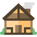 real estate, property, house, buildings, Construction, Cabin, residential, Home DarkOliveGreen icon