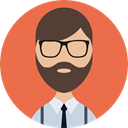 Girl, people, Beard, profile, Man, Business, Avatar, user, Facial Hair, woman Tomato icon