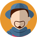 profile, Avatar, user, people, Man Goldenrod icon