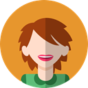 Avatar, profile, user, woman, people Goldenrod icon