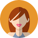 profile, user, Avatar, people, woman Goldenrod icon