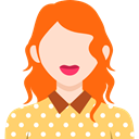 user, woman, profile, Business, Avatar, people DarkOrange icon