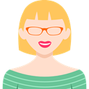 profile, woman, Avatar, people, user, Business Bisque icon