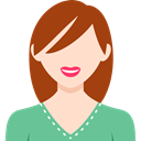 Business, woman, Avatar, people, user, profile SaddleBrown icon