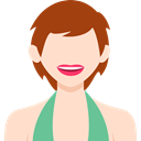 Avatar, Business, people, user, profile, woman Bisque icon