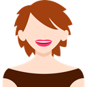 user, Avatar, woman, people, profile, Business Bisque icon